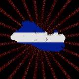 Salwador mapy flaga na czerwonej hex kodu wybuchu ilustraci Zdjęcie Stock