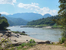 Salween river in Mae Hong Son province between Thailand and Myan Stock Photos
