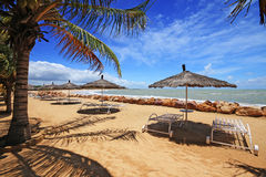 Saly's beach in Senegal. Saly seaside resort in the country of Senegal in Africa royalty free stock photo