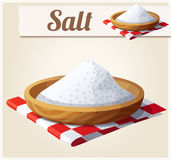 salz Ausführliche Vektor-Ikone Lizenzfreies Stockfoto