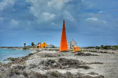 Salz blasses Bonaire Stockbild