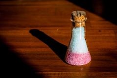 Salz in den Flaschen Stockbild