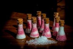 Salz in den Flaschen Stockbilder