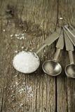 Salz in einem Messlöffel Lizenzfreie Stockfotos