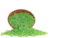 Salz für Aromabad lizenzfreie stockfotos
