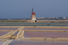 Salz flaches Sicilia lizenzfreie stockfotos
