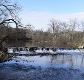 Salz-Nebenfluss-Wasserfall stockbild