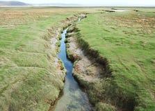Salz-Sumpf-Nebenfluss Stockbild