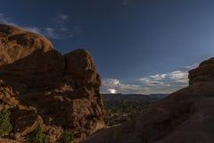 Salz-Tal im HintergrundBlitzschlag Stockbild