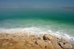 Salz u. Felsen des Toten Meers Stockbilder