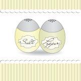 Salz- und Pfefferschüttel-apparathintergrund romantisch, Vektor Stockbild
