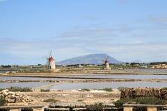 Windmühlen und Salzebenen Lizenzfreie Stockfotografie