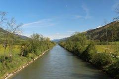Salzach flod Royaltyfria Bilder