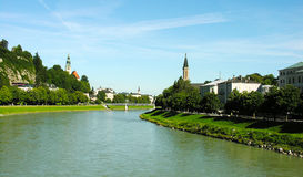 Salzach River. View of Salzach River Bank Royalty Free Stock Images