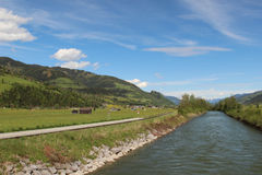 Salzach river Stock Photo