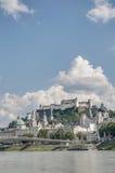 Salzach river on its way through Salzburg, Austria Royalty Free Stock Image