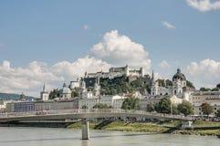 Salzach river on its way through Salzburg, Austria Stock Photos