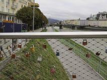 Salzach river Royalty Free Stock Photo