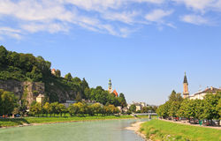 The Salzach River in Salzburg Stock Photo