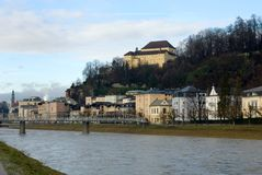Salzach River, Salzburg, Austria Stock Photo