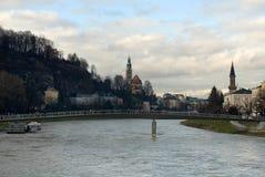 Salzach River, Salzburg, Austria Stock Photography