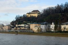 Salzach River, Salzburg, Austria Royalty Free Stock Photo