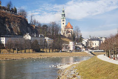 Salzach river. Salzburg, Austria Royalty Free Stock Photography