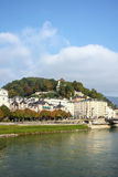 Salzach river in Salzburg, Austria Royalty Free Stock Photography
