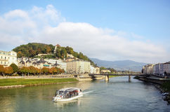 Salzach river in Salzburg, Austria Royalty Free Stock Photos