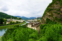 Salzach River in Salzburg Royalty Free Stock Photography