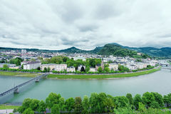 Salzach River in Salzburg Stock Image