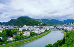 Salzach River in Salzburg Royalty Free Stock Photos