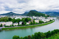 Salzach River in Salzburg Stock Photography