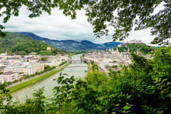 Salzach River in Salzburg Stock Photos