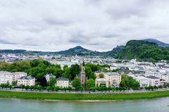 Salzach River in Salzburg Royalty Free Stock Photo