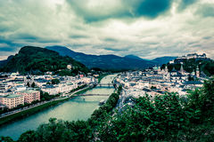 Salzach River in Salzburg Royalty Free Stock Image