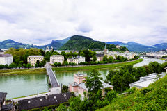 Salzach River in Salzburg Stock Images
