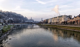 The Salzach River Royalty Free Stock Image