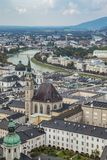 The Salzach twisting through Salzburg Stock Photography