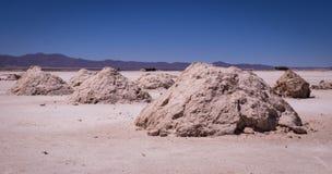 Salzbergbau am Salar de Uyuni-Salzsee, Bolivien stockfoto