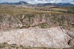Salzbergwerk Maras stockbild