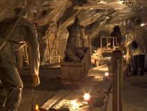 Salzbergwerk Wieliczka Lizenzfreies Stockbild