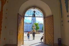 Salzbourg, Autriche - 1er mai 2017 : Endroit central dans la ville de Salzbourg Image stock
