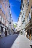 Salzbourg, Autriche - 1er mai 2017 : Les vieilles maisons à Salzbourg, Autriche Images stock
