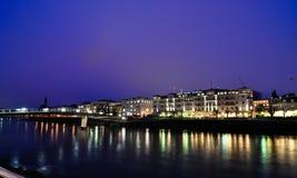 Salzbourg la nuit Image stock