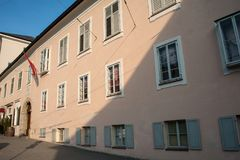 Salzbourg Mozart Wohnhaus, maison vivante image libre de droits