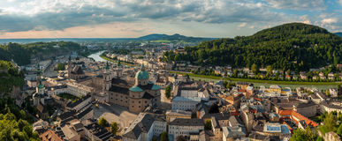 Salzbourg, panorama Photo stock