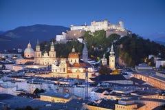 Salzburg Österrike. Arkivfoton