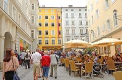 Salzburg Österrike. Arkivbilder