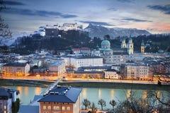 Salzburg Österrike. Arkivbild